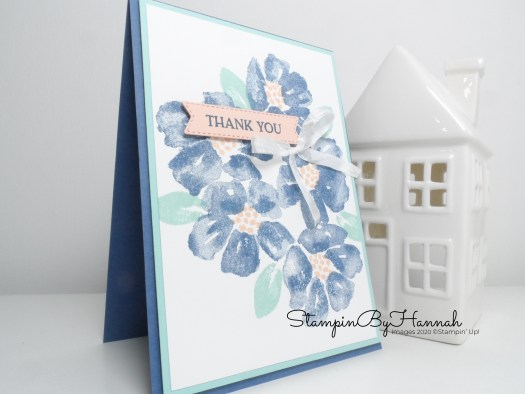 Quick and simple Thank you card using Blossoms in Bloom from Stampin' Up!