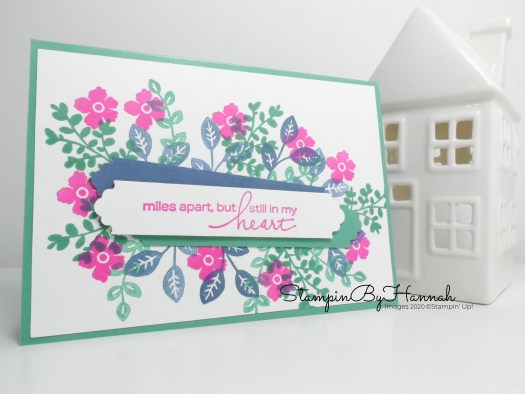 Missing you card using Lovely You from Stampin' Up! with StampinByHannah