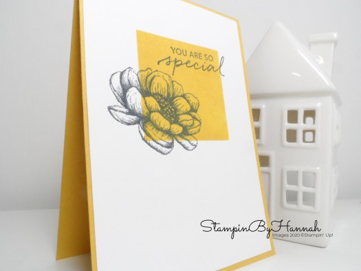 Ink Blended notecard using Tasteful Touches from Stampin' Up! with StampinByHannah