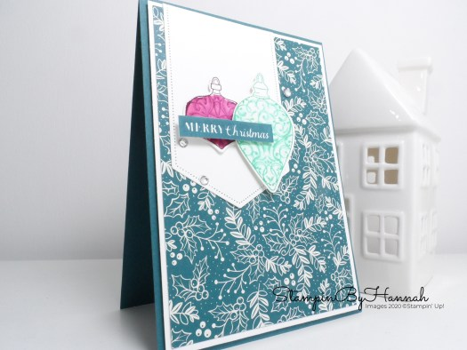 Quick Watercolour Christmas Card using Christmas Gleaming from Stampin' Up! with StampinByHannah