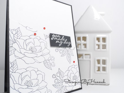 Quick and simple card using So Much Love from Stampin' Up! with StampinByHannah