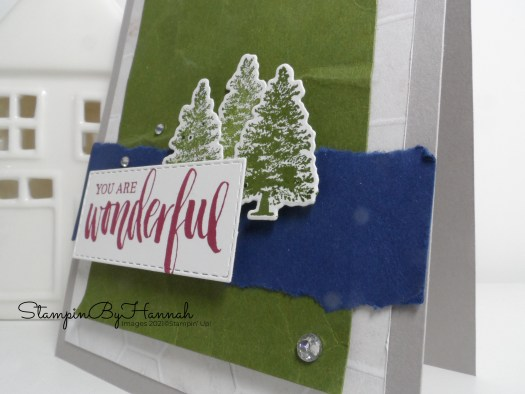 You are Wonderful handmade card using Rooted in Nature from Stampin' Up! with StampinByHannah