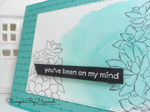 Quick watercolour card for InspireINK using Simply Succulents from Stampin' Up! with StampinByHannah