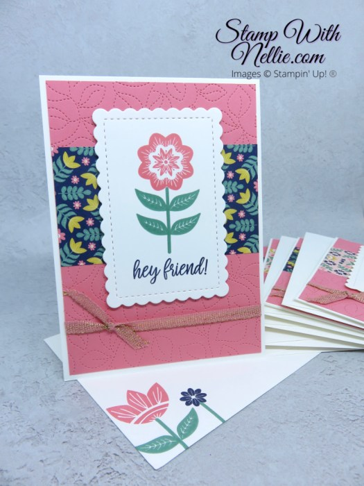 Pretty friend card using Sweet Symmetry from Stampin' Up!