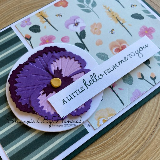 Die Cut Pansy using Pansy Patch from Stampin' Up! with StampinByHannah