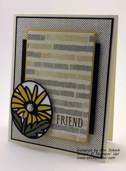 Friendship Card Created with the Daisy Timeless Tag