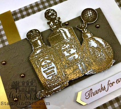 gold embossed thank you
