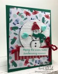 Snowman Card with Felt Accents