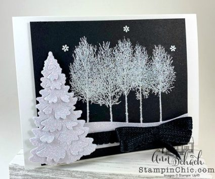winter woods holiday card