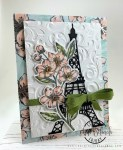 Eiffel Tower floral card