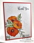 clean simple floral thank you card