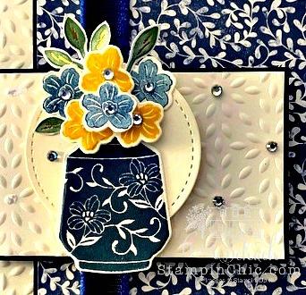Boho Indigo Floral Thank You