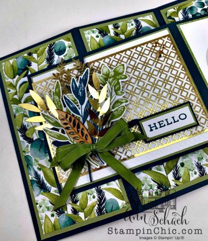 double z fold hello card