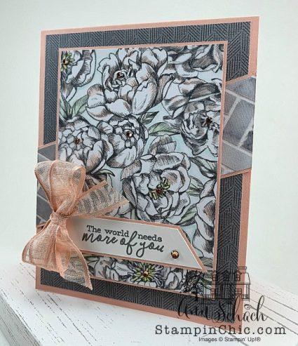 Peony Garden Floral Friendship Card