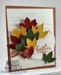 Multicolored Leaves Fall card
