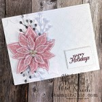 Clean and Simple Poinsettia Holiday Card
