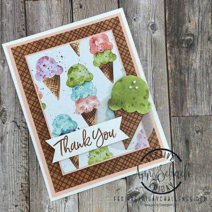Ice Cream Thank You card