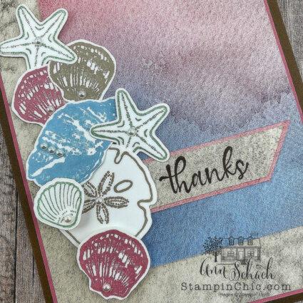 seashell thank you card
