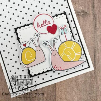 snail hello card