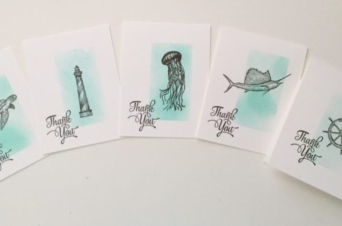 From Land to Sea Single Layer Thank You Cards at StampinFool.com