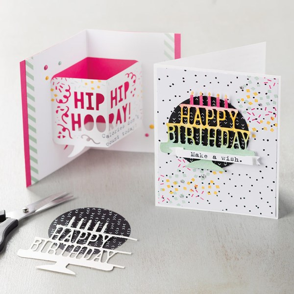 Pop Up Birthday card tutorial with Birthday Cake dies tutorial. See more at StampinFool.com
