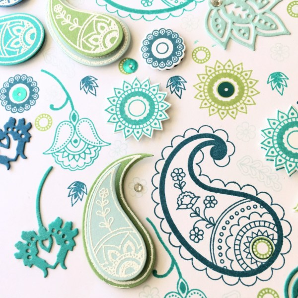 Stampin Up! Paisleys & Posies Peacock Art from StampinFool.com