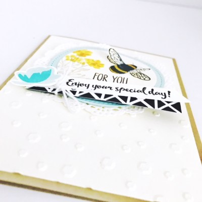Honey Bee Stampin' Up Mother's Day card featuring Dragonfly Dreams from StampinFool.com