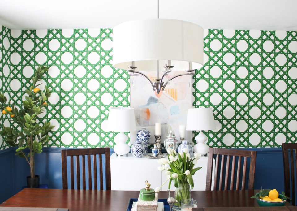 Chinoiserie Chic Dining Room Reveal and Interior Design Tips | One Room Challenge Week 6 FINALE from StampinFool.com