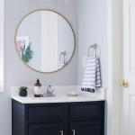The Best 20 Diy Navy Blue Gold Painted Vanity Bathroom Makeover