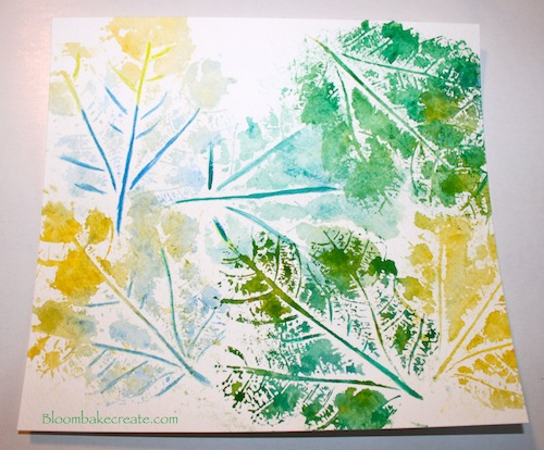Technique Leaf Stamping Stamping