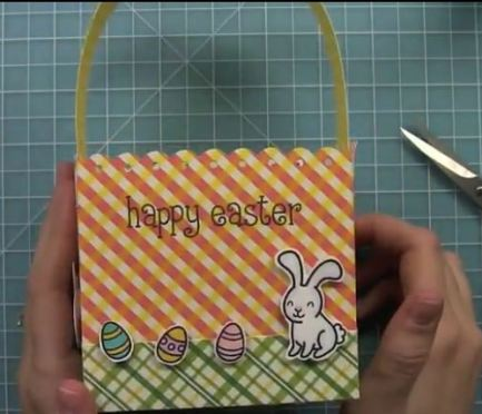 project: stamped paper easter basket