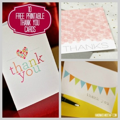 Freebies: 10 Thank You Cards