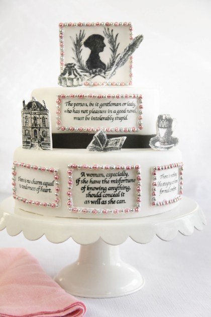 Inspiration: Jane Austen Stamped Cake