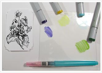Technique: Water Coloring with Alcohol Markers