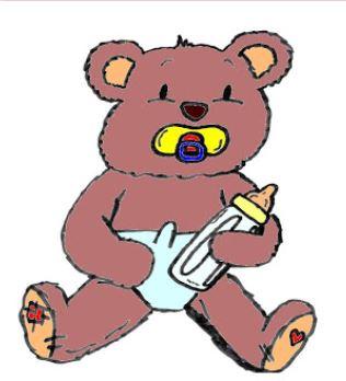 Freebie: Baby Bear Digital Stamp