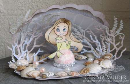 inspiration: stamped mermaid in shell