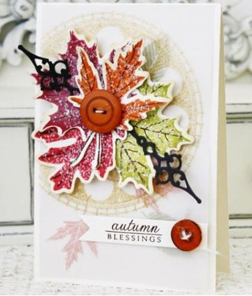 Project: Stamped Fall Leaf Card