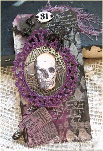 Project: Stamped Halloween Tag