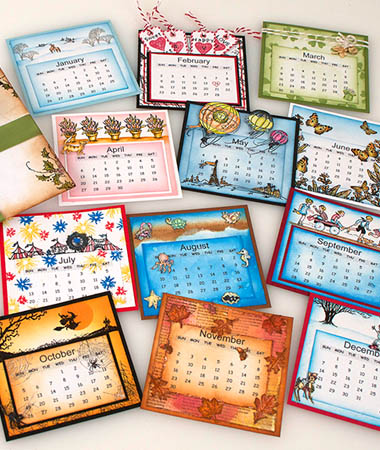 Project: Stamped Calendar