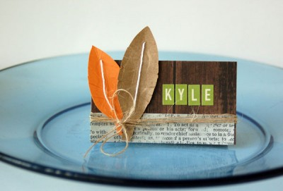 Project: Thanksgiving Place Cards