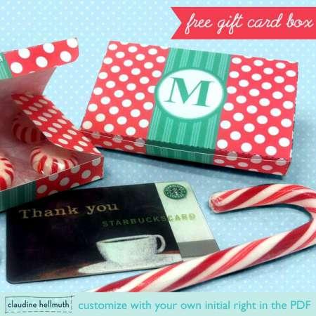 Freebie: Gift Card Box