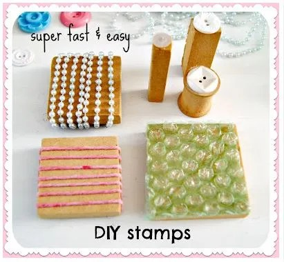 Tutorial: DIY Stamps from Everyday Items