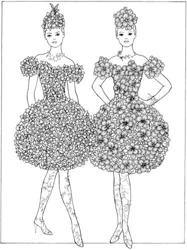 Freebie: Flower Fashion Girls