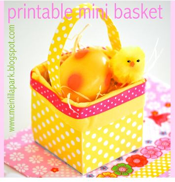 Freebie: Printable Easter Basket