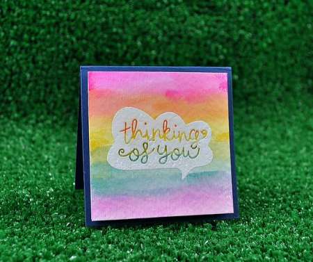 Technique: Water Color Background Card