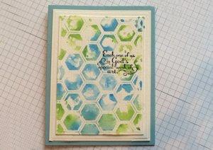 Tip: Painting on Embossing Folders