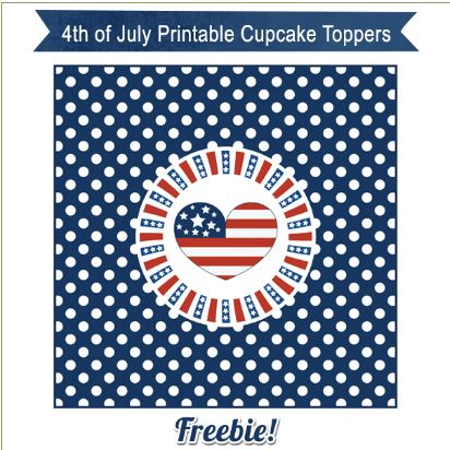 Freebie: 4th of July Cupcake Toppers