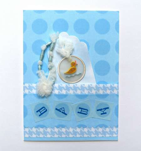 Project: Baby Card with Quilling