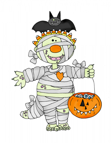 Freebie: Halloween Mummy Digi Stamp