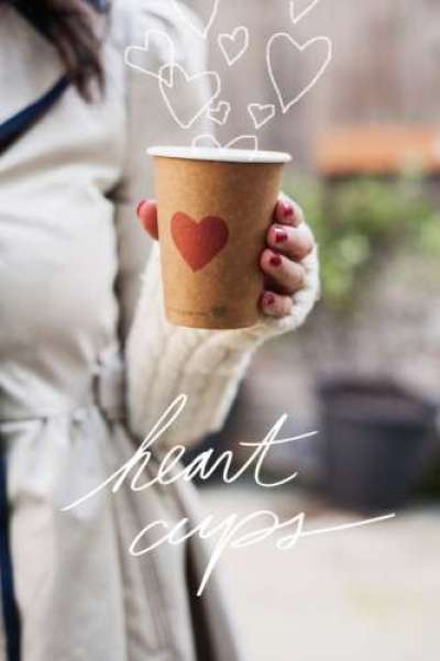 stamped heart cup